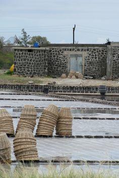 Mauritius : salt pans at Les Salines