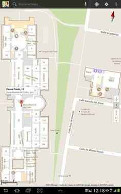 Mapa interior del Museo del Prado para Google Maps