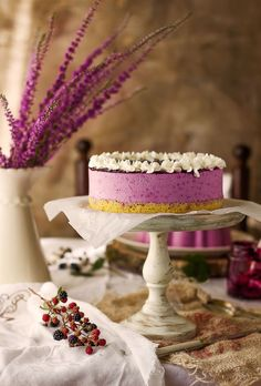 Cheesecake with Wild Blackberries
