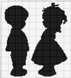 Une jolie grille:  - Silhouettes enfants.zip