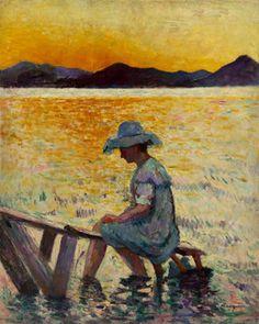 Henri Manguin, Saint-Tropez, Le coucher du soleil, 1904, huile sur toile, 81x65…