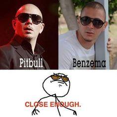 Pitbull sosie de Benzema ? - http://www.actusports.fr/107298/pitbull-sosie-benzema/