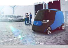 Mercedes Benz Qbig - een bijzonder virtueel voertuig - more images on http://on.dailym.net/1WdjbR9 #Electric-Engine, #Elektrische-Auto, #Henri-Von-Freyberg, #Mercedes-Benz-Qbig, #Smart4Two