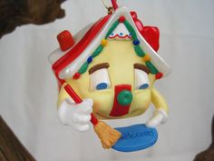 1995 New Home Hallmark Keepsake Christmas Ornament – House Welcome Mat - No Box by fromThePeddlersCart on Etsy