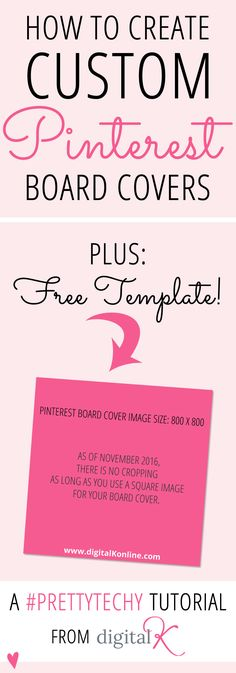 Tutorial: How to create custom Pinterest board covers (plus download my free template)!