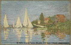 Claude Monet,Régates à Argenteuil,© RMN-Grand Palais (Musée d'Orsay) / Hervé Lewandowski