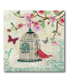 Another great find on #zulily! Birds & Butterfly I Gallery-Wrapped Canvas #zulilyfinds