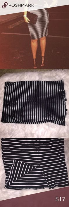 WINDSOR midi skirt Super cute black and white striped midi skirt . Worn once (pictured) WINDSOR Skirts Midi