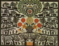 Born the same year Hauswirth died, in Louis-David Saugy also lived in Pays-d'Enhaut and practised the art of paper cuts. Book Art, Scandinavian Folk Art, Hindu Art, Naive Art, Tribal Art, Indian Art, Pattern Art, Paper Cutting, Illustration Art
