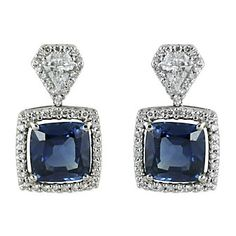 Now these are a statement piece! 18K Sapphire and Diamond Earrings from Borsheims.