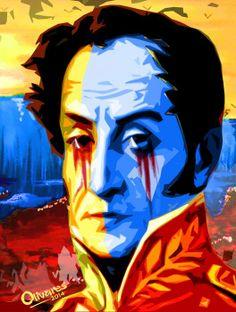 Obras del artista venezolano Oscar Olivares referentes a la situación actual del país.