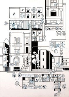 chris-ware-original-art-for-building-stories-the-acme-novelty-library-no-16-2005.jpg (614×864)