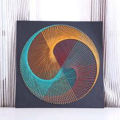 String Wall Art, Nail String Art, 3d Wall Art, Abstract Wall Art, Wall Art Decor, String Art Templates, String Art Tutorials, String Art Patterns, Mandala Art