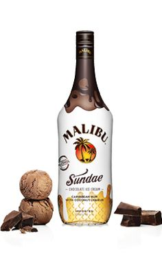 One of our newest products: Malibu Sundae! It's Malibu Coconut rum mixed with chocolate!