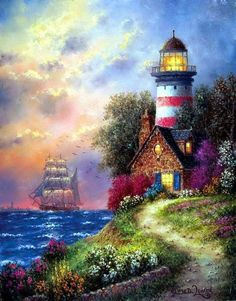 Show Me A Map And I'll Be There In A Snap!~ Picture Book Lighthouse ~ Dennis Patrick Lewan