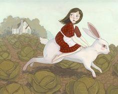 Rabbit's Bride Illustration - Grimm's Fairytale Print