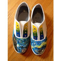 de4be67770a4 Starry Night Canvas Shoes Custom Painted Shoes
