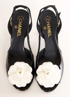 CHANEL HEELS @Michelle Flynn Flynn Flynn Flynn Flynn Flynn Coleman-HERS loving the white flowers  say it with me: #legallyredapproved