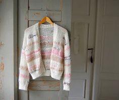 KNITTING PATTERN Ladies Long /& Short Sleeve Striped Cardigan Smooth DK 4832
