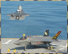 USMC F-35B Lightning II aircraft takes off from the amphibious assault ship USS Wasp (LHD 1)08-2013