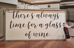 Gorgeous Farmhouse Sign SHOP NOW  $5 flat rate shipping | wine lover | wine quotes | farmhouse décor | farmhouse style | fixer upper | wood signs | rustic sign | pallet sign | rustic décor | be still | home décor