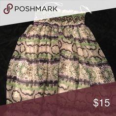 Green patterned poofy sundress Pretty sundress, bell skirt, black, green & off white New Glory Dresses Midi