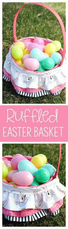 Cute Ruffled Easter Basket
