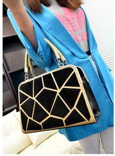 élégants sacs patchwork fausse fourrure ladies, gold-ton cadre casual-sac en cuir pU
