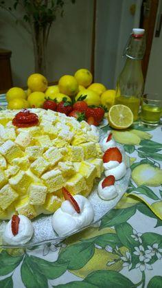 Torta mimosa alle fragole #Dessert #Dolci