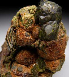 Epidote after Andradite  Garnet Hill Mine, Claveras Co., California, USA /200