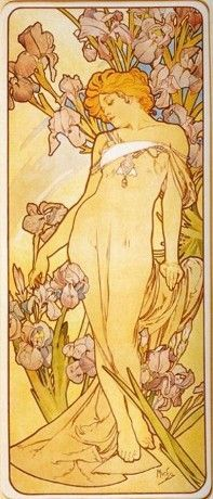 L'iris  Alfons Mucha