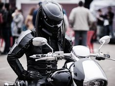 Predator Motorcycle Helmet Infrared vision not included.
