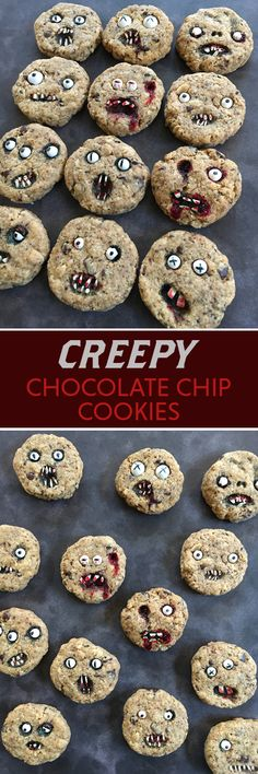 Creep out your friends with these cookies at your Halloween party! #halloween_decor_cookies