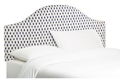 Libby Upholstered Headboard, Navy