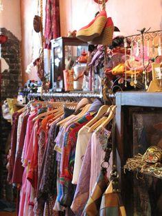 Tavin Boutique clothing on the racks