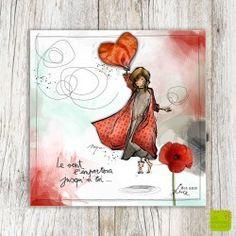 "Carte postale d'amour ""Le vent l'emportera"" illustrée par Myra Vienne Sketches, Sketch Book, Sketchbook Art Journal, Illustration, Drawings, Image, Art, Art Journal, Cute Illustration"