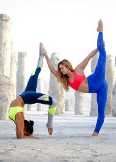 There are a lot of yoga poses and you might wonder if some are still exercised and applied. Yoga poses function and perform differently. Each pose is designed to develop one's flexibility and strength. Acro Yoga Poses, Partner Yoga Poses, Yoga Moves, Dance Poses, Yoga Exercises, Two Person Yoga Poses, Yoga Poses For Two, Yoga Pictures, Yoga Photos