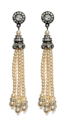 ... , there are the Pearl Tassel Earrings, which have the big earring effect without drawing attention away from your other jewelry. Description from ben-amun.blogspot.co.uk. I searched for this on bing.com/images