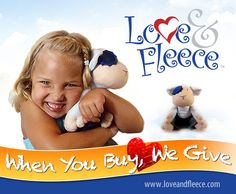 For every toy they sell, Love & Fleece will give one to a sick or needy child.