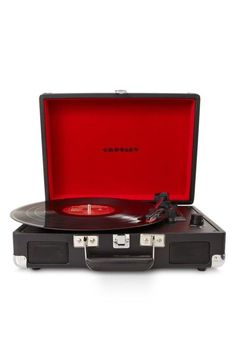 Enjoy vinyl sound and mobile convenience with the Crosley Radio Cruiser portable turntable. This three-speed, briefcase-style turntable lets you experience the sound of vinyl wherever you want to hear it. Crosley Record Player, Record Players, Built In Speakers, Stereo Speakers, Best Portable Record Player, Radios, Radio Vintage, Walmart, Last Minute Christmas Gifts