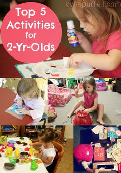Top 5 Activities for 2 Year Olds (or toddlers of any age) via kyliepurtell.com