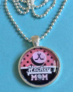 Hockey Mom Pendant Necklace by joytoyou41 on Etsy, $20.00