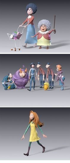 The Lorax Sculptures, by Michael Defeo