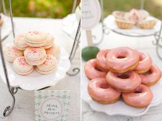 Macaroons and even donuts can work for a garden party high tea.