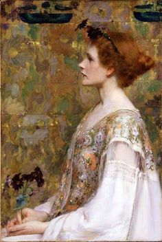 old-world:    Albert Herter : Woman with Red Hair 1894