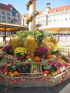 Dresden market in Germany