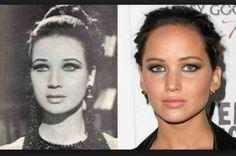 Jennifer Lawrence and Egyptian actress Zubaida Tharwat. So creepy