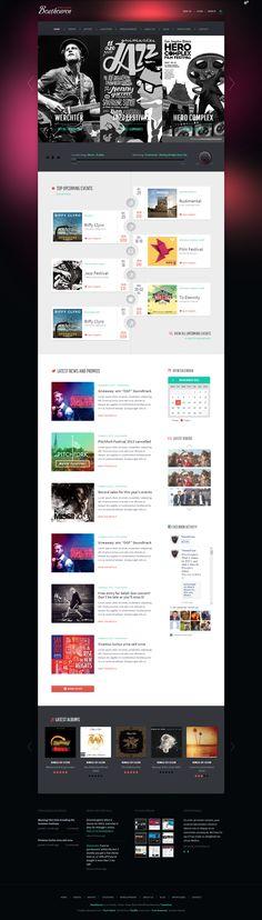 Beatheaven Music WordPress Theme http://themefuse.com/wp-themes-shop/music-wordpress-theme/?r=27299 #design #web #music #template