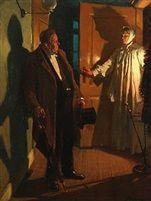 Night, Painters, Danish, Darkness, Image, People, Flooring, Art, People Illustration