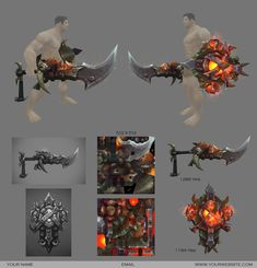 warlords of draenor weapon concepts - Google Search